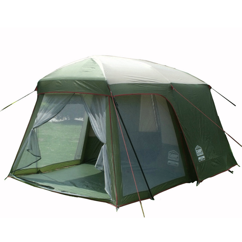 Double layer garden tent 3-4 person large family camping tent China Outdoor leisure 4 seasons tourist waterproof tents 2 rooms waterproof tourist tents 2 person outdoor camping equipment double layer dome aluminum pole camping tent with snow skirt