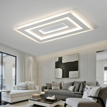 Surface Mounted Modern Led Ceiling Lights for living room bedroom Ultra-thin lamparas de techo Rectangle Ceiling lamp fixtures macaron ultra thin modern squar led ceiling lights pink yellow body ceiling lamp for living room kids room bar lamparas de techo