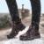 KLYWOO Más El Tamaño 38-48 de Los Hombres de Botas de Trabajo de Alta Calidad Genuina Los Hombres de cuero Botas de Invierno de la Felpa Caliente de la Nieve Botas de Los Hombres Ocasionales zapatos