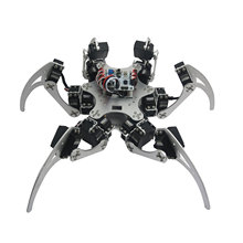 Aluminium Robotic Hexapod Spider Six 3DOF Legs Robot Frame Kit with Bearings for Arduino DIY