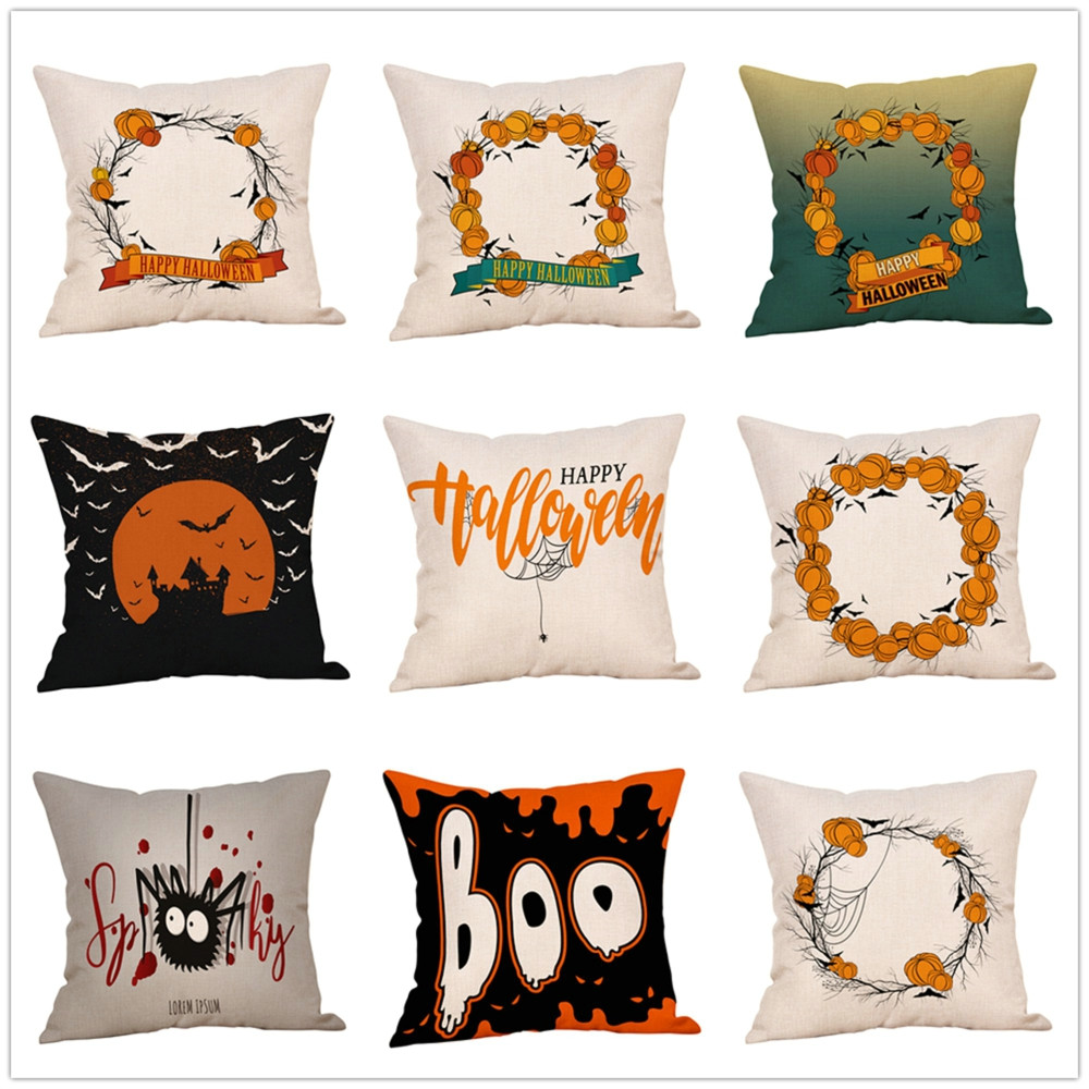 halloween pillows cover decor pillow case sofa waist throw cushion