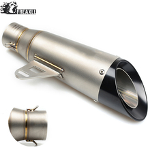 Universal Motorcycle Exhaust Muffler Pipe Modified Motorbike Muffler Scooter Exhaust Pipe Escape For Kawasaki Ninja 1000 ZX-10R universal motorcycle exhaust muffler pipe modified motorbike muffler scooter exhaust pipe escape for ktm 125 duke abs 990 super