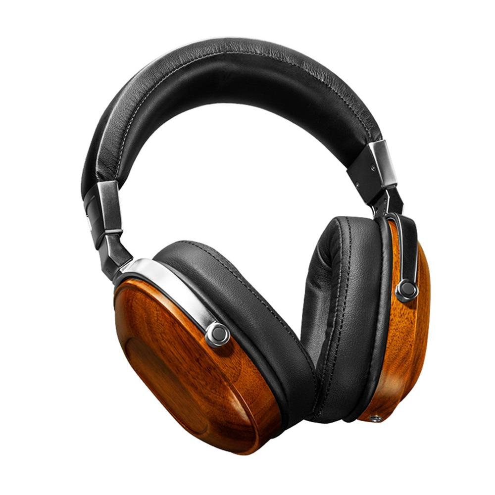 High quality Original BLON BossHiFi B8 HiFi Wooden Metal Headphone Black Mahogany Headset Earphone With Beryllium Alloy Driver