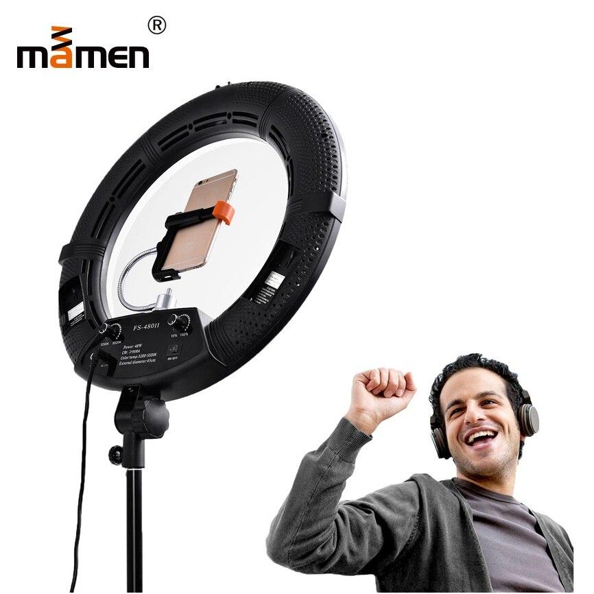 Mamen Anneau Lumière 60 W 240 pcs 100 V-240 V LED Lampe Caméra LED SMD Vidéo Photo Caméra Anneau Lumière LCD Écran Photographie Éclairage 2018
