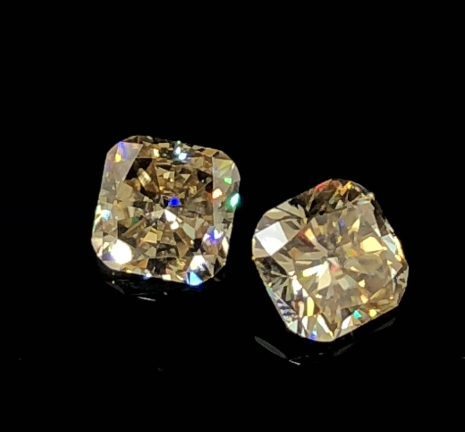 GIGAJEWE Yellow Color 9.1mm*9.1mm 3.3ct Cushion Cut Moissanite Beads Synthetic moissanit ...