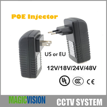 48V 0.5A POE Injector for CCTV IP Camera USA or EU Power Over Ethernet Injector POE Switch Ethernet Adapter POEB48E