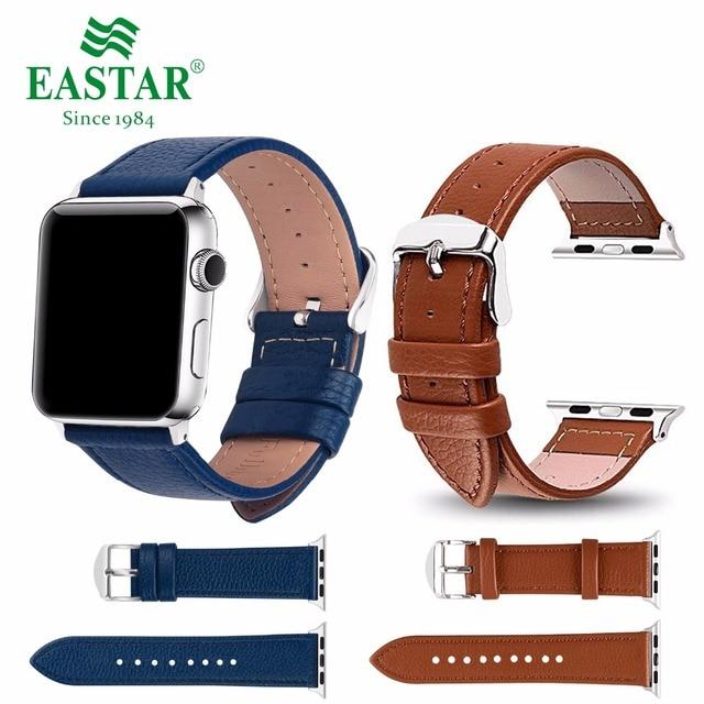 Eastar 3 цвета Лидер продаж кожаный ремешок для Apple Watch серии группа 3/2/1 Спортивный Браслет 42 мм 38 мм ремешок для iwatch 4 Band
