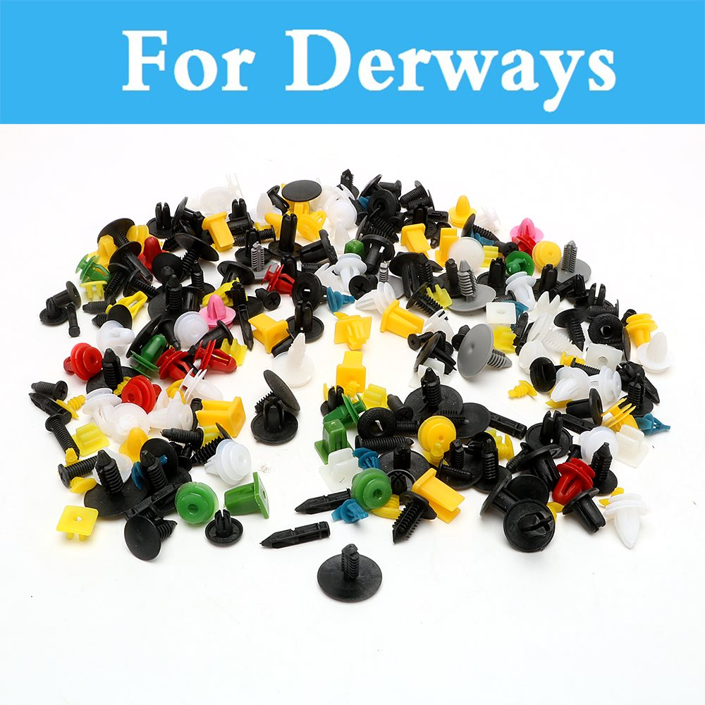 200pcs Car Cable Mount Clamp Clips Plastic Auto Fastener Mixed Wire Tie For Derways Saladin Shuttle Aurora Cowboy Land Crown