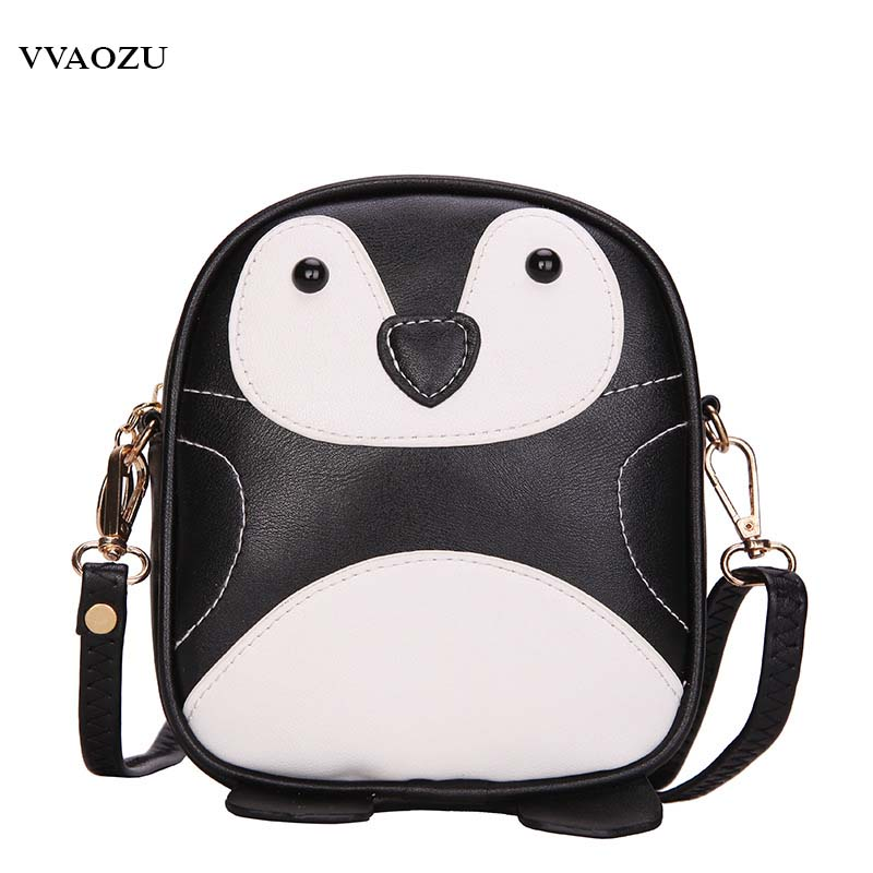 New Fashion Cute Penguin Handbag Cartoon Women Mini Animal Shoulder Bag Girls Messenger Clutch Tote Bags Purse