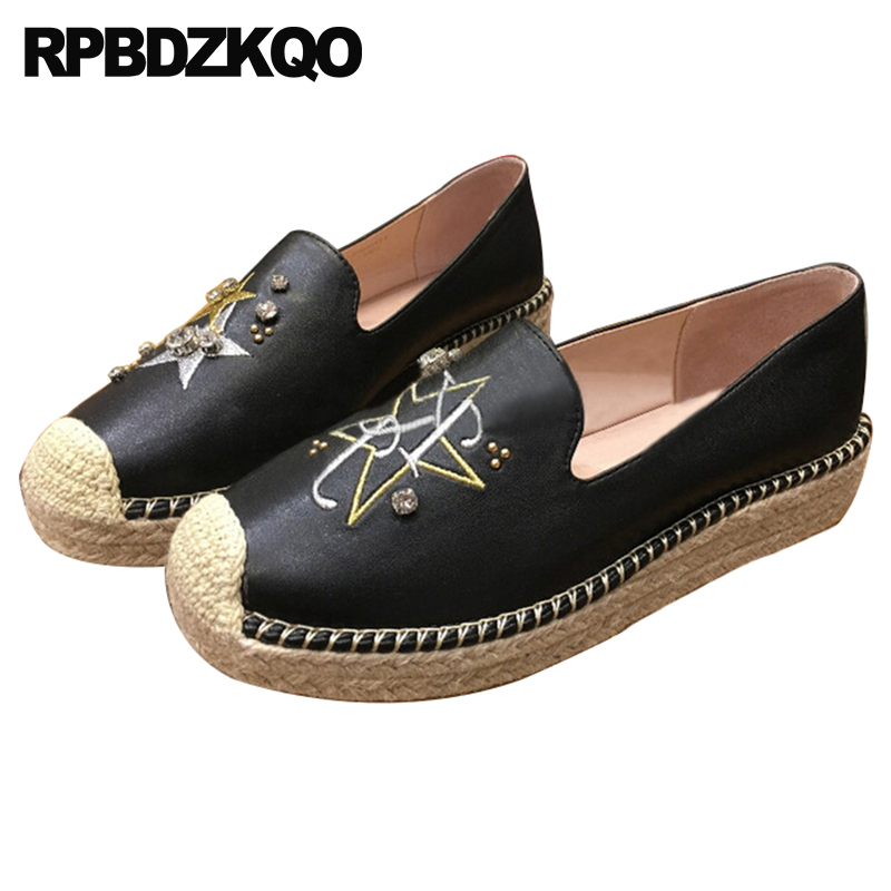 flats embroidery sequin designer shoes women luxury 2018 crystal embroidered black loafers espadrilles hemp diamond beautiful sequin embroidered zip up jacket page 5