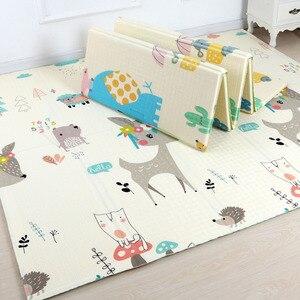Image 3 - 200*180cm esteira do jogo do bebê dos desenhos animados dobrável xpe quebra cabeça esteira das crianças almofada de escalada do bebê caçoa tapetes speelkleed jogos do bebê