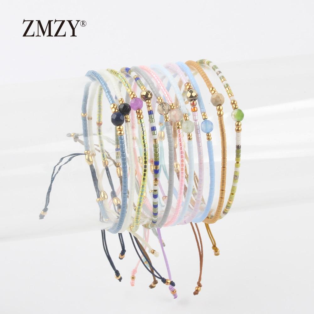 ZMZY Miyuki Delica, бисер, женские браслеты, ювелирные изделия дружбы, модные, сделай сам, Bijoux Femme, простые браслеты, Прямая поставка