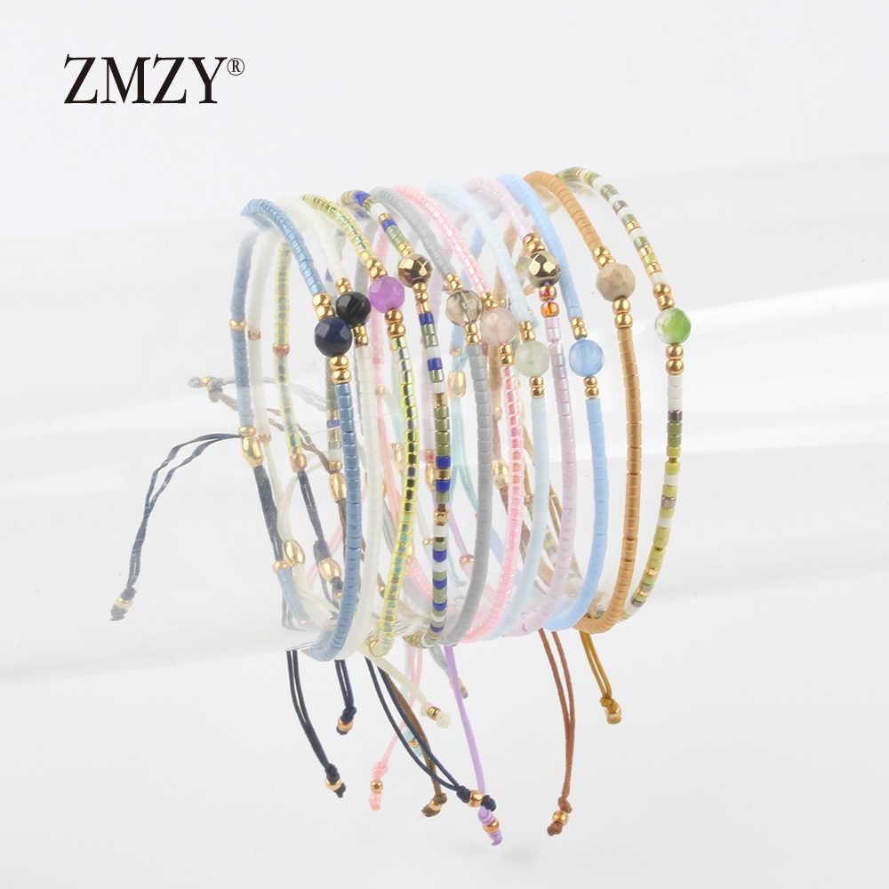 ZMZY Miyuki Delica Seed Beads Donne Braccialetti di Amicizia Dei Braccialetti Dei Monili di Modo Fai Da Te Bijoux Femme Semplici Braccialetti di Trasporto di Goccia
