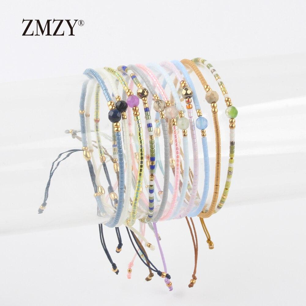 ZMZY Miyuki Delica бисер женские браслеты дружбы ювелирные изделия Модные Diy Bijoux Femme простые браслеты Прямая доставка