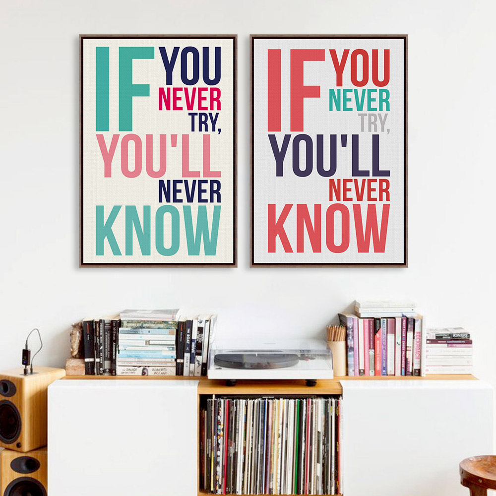 inspirational frames for office. Modern Minimalist Motivational Typography Simple Life Quotes A4 Large Art Print Poster Office Picture Canvas Painting Wall Decor-in \u0026 Calligraphy Inspirational Frames For T