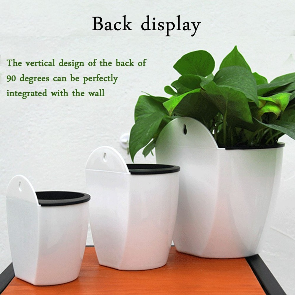 Potted Flower-Pot Hydroponics-Chlorophytum Hanging-Design Round-Shape Home-Wall Resin title=
