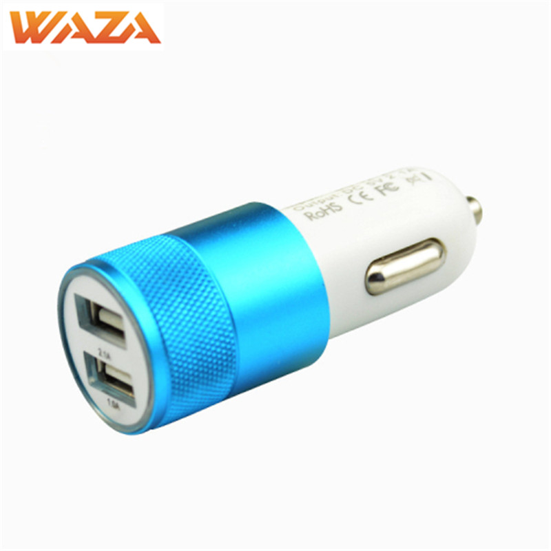 Waza Universal Metal Material Car Charger for iPhone X iPhone 7 iPhone 6 Samsung Huawei and Other Mobie Phone
