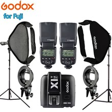 Original Godox TT600 Photo Studio Camera Speedlite Lighting Kit with 2m Light Stand 60*60cm Softbox Soft box for Fujifilm Camera