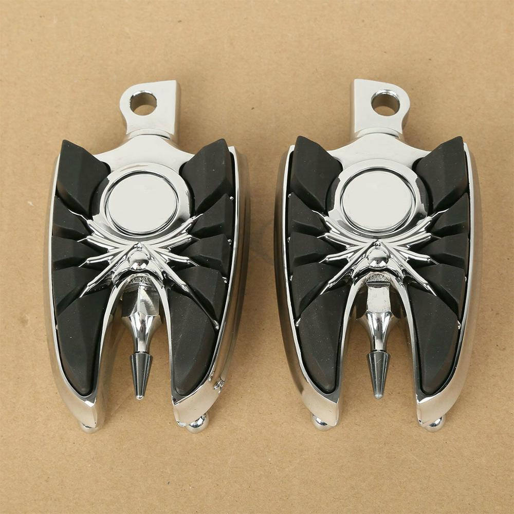 Motorcycle 1 Pair Billet Aluminum Male-Mount Footrests Foot Pegs For Harley Dyna Sportster Street Road Glide Road King