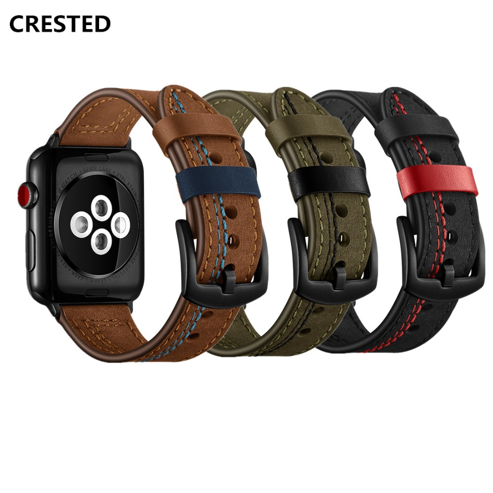 Leather Strap For Apple Watch Band Apple Watch 4 3 5 Band 44mm/40mm Iwatch Band 42mm/38mm Correa Bracelet Watchband Belt Series