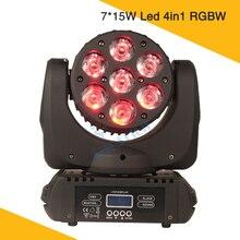 7 * 15W  Led Mini Beam Moving Head Light  Osram RGBW 4in1 Led Moving Head Cabeza Movil Led Beam