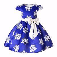 Kids Clothes Snowflake Girls Dresses Baby Girl Big Bow Tutu Princess Dress Halloween Christmas Party Costume