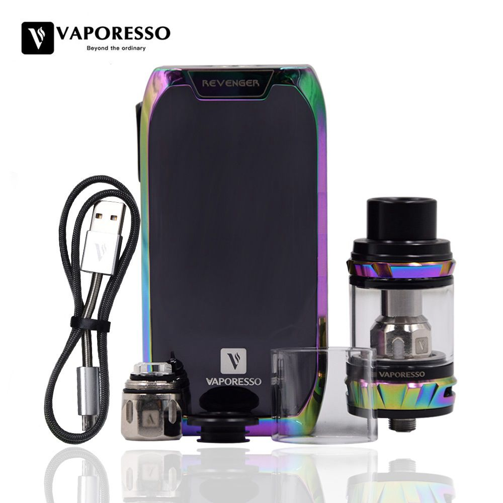 Original Vaporesso Revenger Kit Revenger Mod with NRG Tank 5ml NRG Mini Tank 2ml 510 Drip Tip Revolutionary IML Design Vape Kit