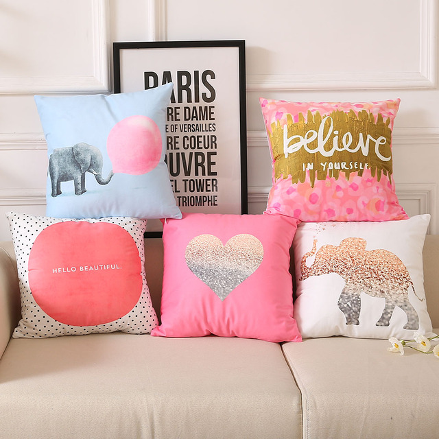 Love pink cute Pillow cushion cover decorative THROW PILLOW for ...