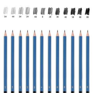 Image 5 - Ensemble de crayons pour dessin professionnels, 48 pièces, Kit de crayons pour dessin, en bois, fournitures artistiques, pour étudiants scolaires