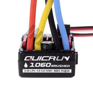 Image 3 - Zdalnie sterowany model samochodu QUICRUN 1060 60A wodoodporna szczotkowana prędkość esc kontroler z 6 V/3A BEC dla 1:10 części do zdalnie sterowanego samochodu