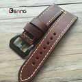For Panerai  Genuine Leather Watch bands 20mm 22mm 24mm 26mm For Mens Scrub Strap  Brown