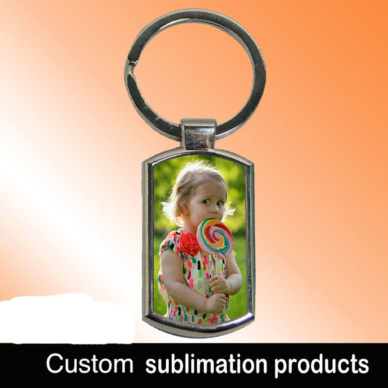 Sublimation blank metal key chain thermal transfer consumables factory price Can print photos keyring 100pieces lot