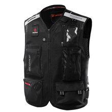 Scoyco JK46 Reflective Safety Clothing Motorcycle Reflecting Racing protective Vest Visbility Moto Security Motorbike Led Light