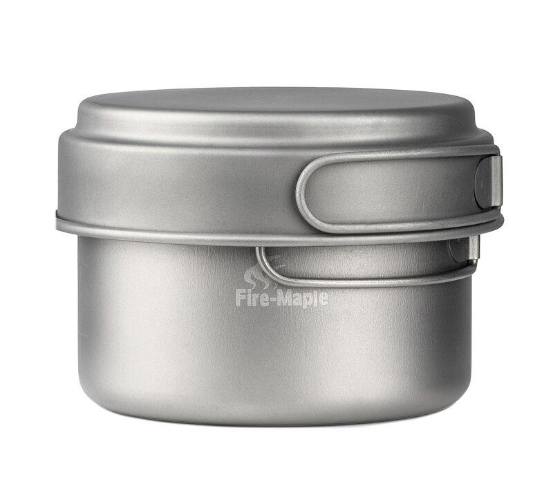 Set de casseroles en titane pour 1-2 personnes en érable feu ensemble de casseroles de Camping en plein air ensemble d'ustensiles de voyage FMC-DP3