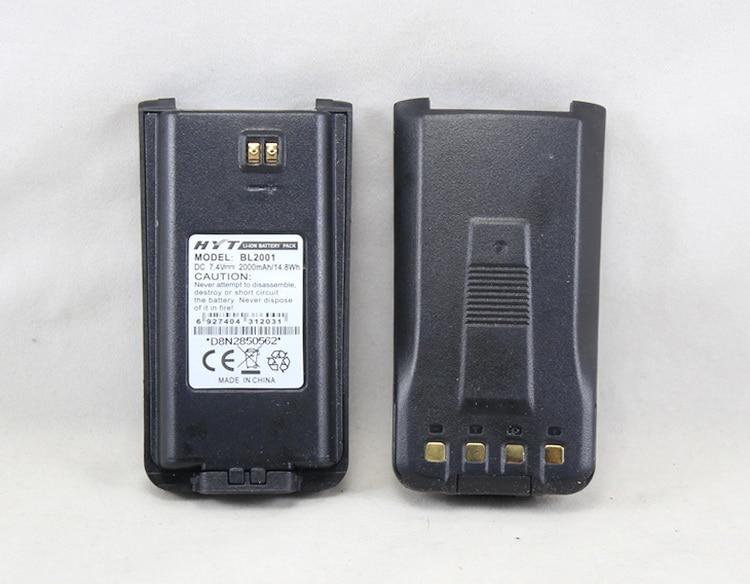 imágenes para BL2001 BL-2001 batería Recargable Li-ion 2000 mAh para HYTERA HYT TC-610 TC-620 TC-618 TC-626 TC-610P TC610S más grueso que BL1204
