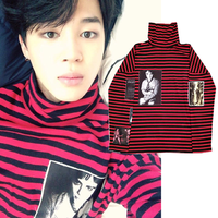 coat Kpop man Sweatershirt Bigbang GD G Dragon man Sweatershirts Pullover Striped Jumper New women 2019 Bangtan boys