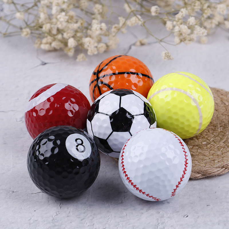 6PCSSet Indoor Outdoor Practice Golf Balls Professional Course Play Toy Practice Training Aids Sports Balls Golf Accessories