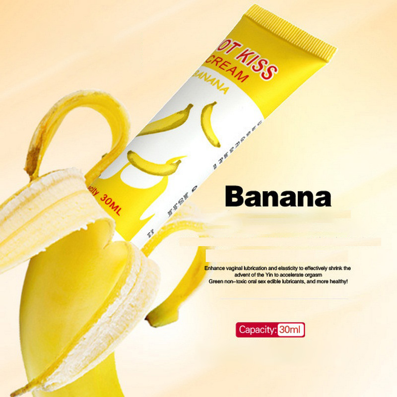 50ml Banana Flavor Sex Lubricant For Edible Sex Lube Lubricante For Oral Vagina Anal Sex Gel For Gay Lubricants  Oral Job Shop (5)