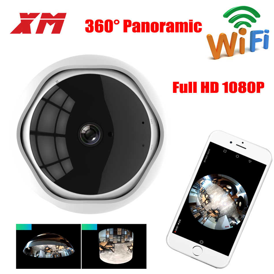 Fish Eye Camera 360 degree WiFi Camera 1080P HD IP Camera Home Panoramic Wireless Smart Security Camera CCTV P2P H.264+ Web Cam