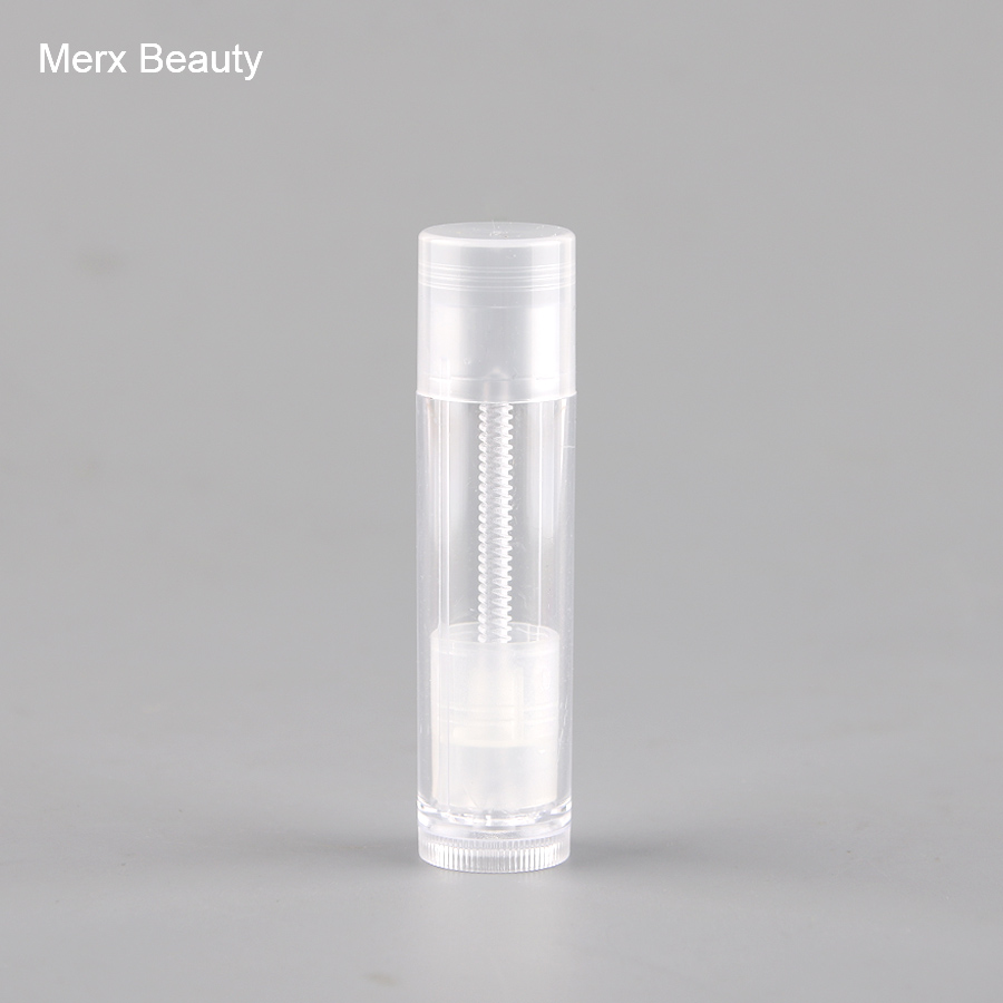 5/50PCS 6g full transparent plastic lipstick tube, empty round lip balm case, DIY Cosmetic Container, high grade make up tool 500g cosmetic grade 99