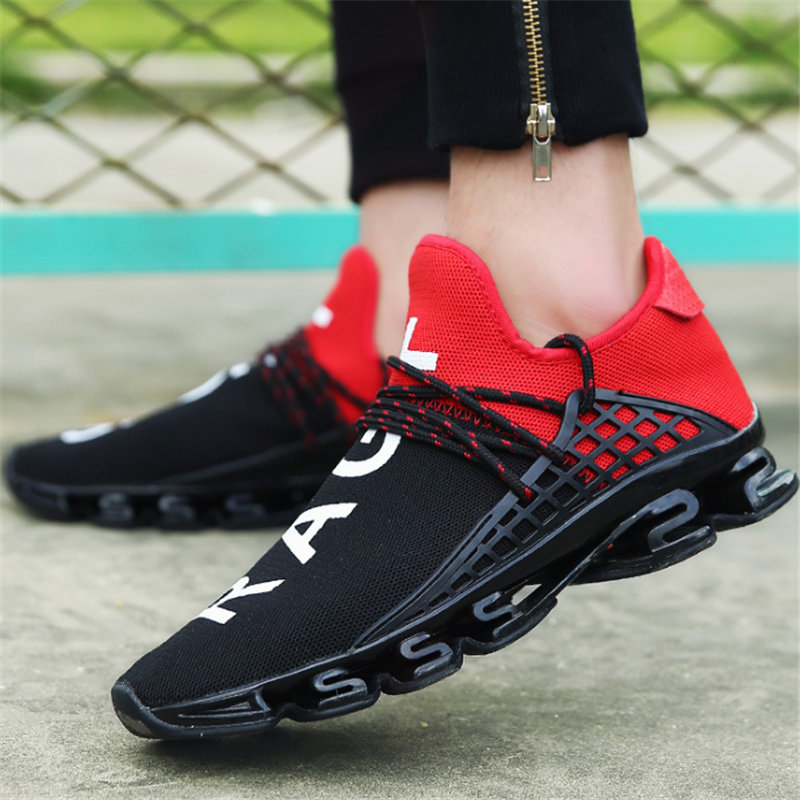 2018 Men Sneakers Casual shoes mesh Unisex Fashion wedges Blade men Anti skid damping Brands Lovers leisure shoes tenis feminino