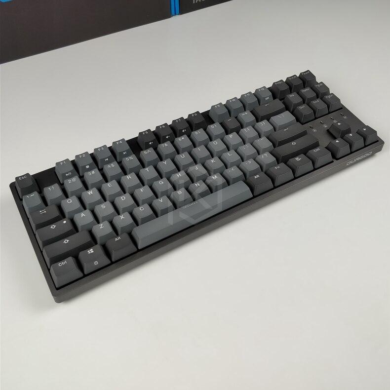Durgod 87 taurus k320 clavier mécanique utilisant des commutateurs cherry mx pbt doubleshot keycaps marron bleu noir rouge argent commutateur - 5