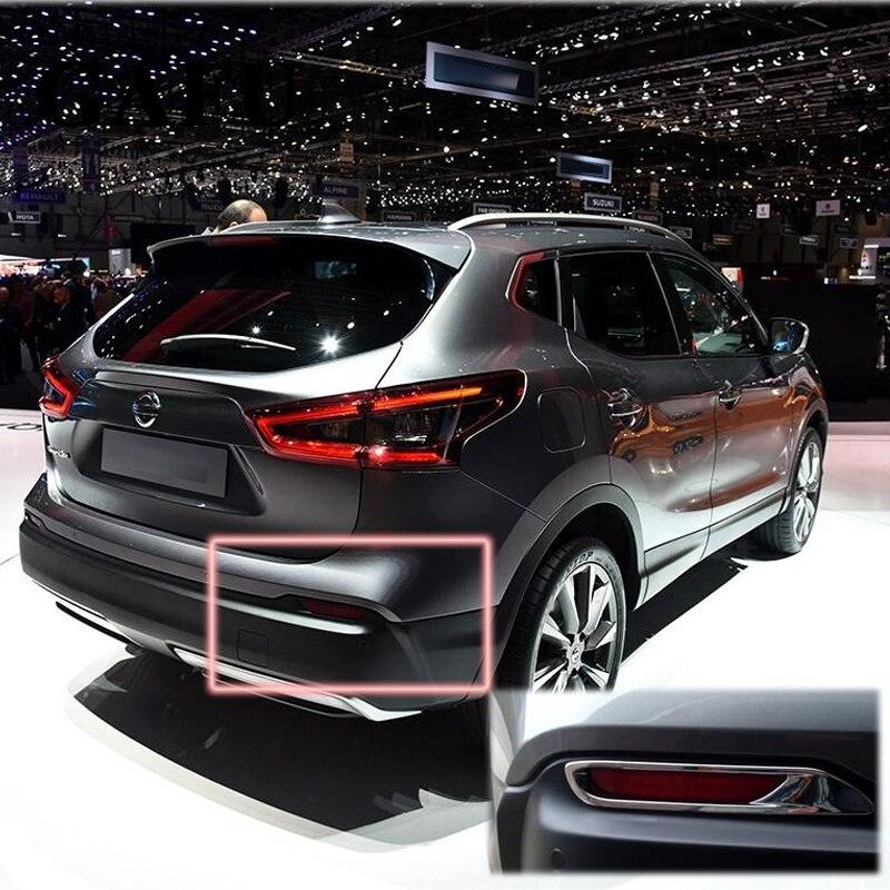 ABS Chrome Rear Tail Fog Light Lamp Cover Trim 2pcs For Nissan Qashqai 2018