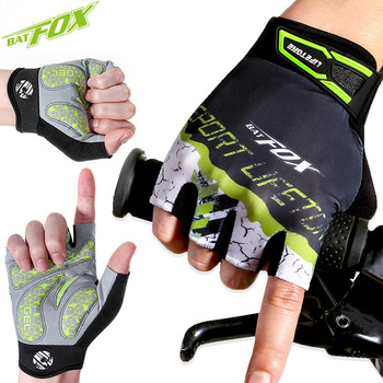 BATFOX-guantes de ciclismo transpirables de medio dedo, para deportes al aire libre,...