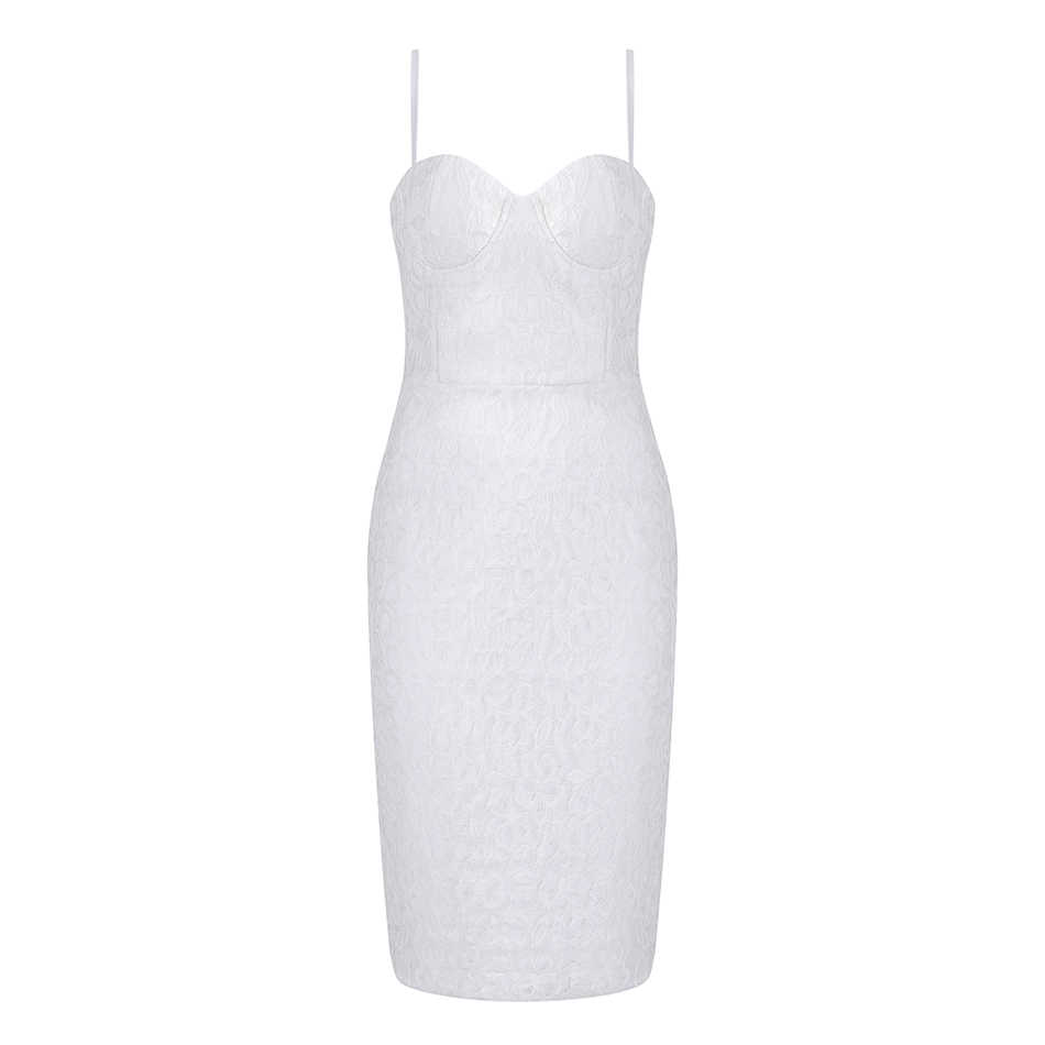 2019 новые летние белые Бандажное платье без рукавов Кружевное платье на бретельках платье модные, пикантные Вечерние знаменитости Вечерние платья Bodycon Vestidos
