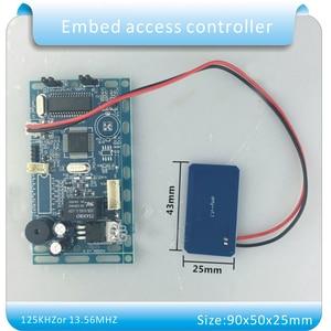 Image 4 - Gratis verzending 13.56 MHZ frequentie Embedded RFID board Proximity Deur Access Control System intercom module + Infrarood handvat
