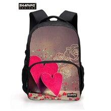 Мода для девочек-подростков школьные рюкзаки 3D милые животные сердца печати рюкзак большой емкости Женщины Путешествия Рюкзак Mochila