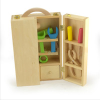 1 Set Baby Wood Toys Multi Function Toolbox For 13 24 Months Baby Classic Developmental Montessori Infant Gift Children Products