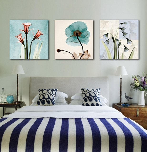 3 Pieces Unframed Wall Art Picture Gift Home Decoration Canvas Print Painting Abstract Flower 9 Horses