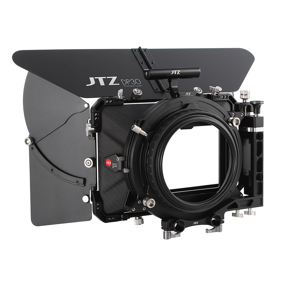JTZ DP30 Cine Carbon Fiber 4x5.65 Matte Box 15mm/19mm For Sony ARRI RED CANON